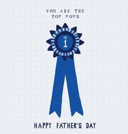 Paper E Clips Father Ribbon Card