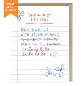 Paper E Clips First Draft Deck The Halls Christmas -Boxed