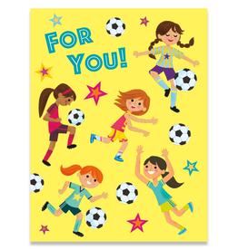 Paper E Clips Girl Sports Mini Card