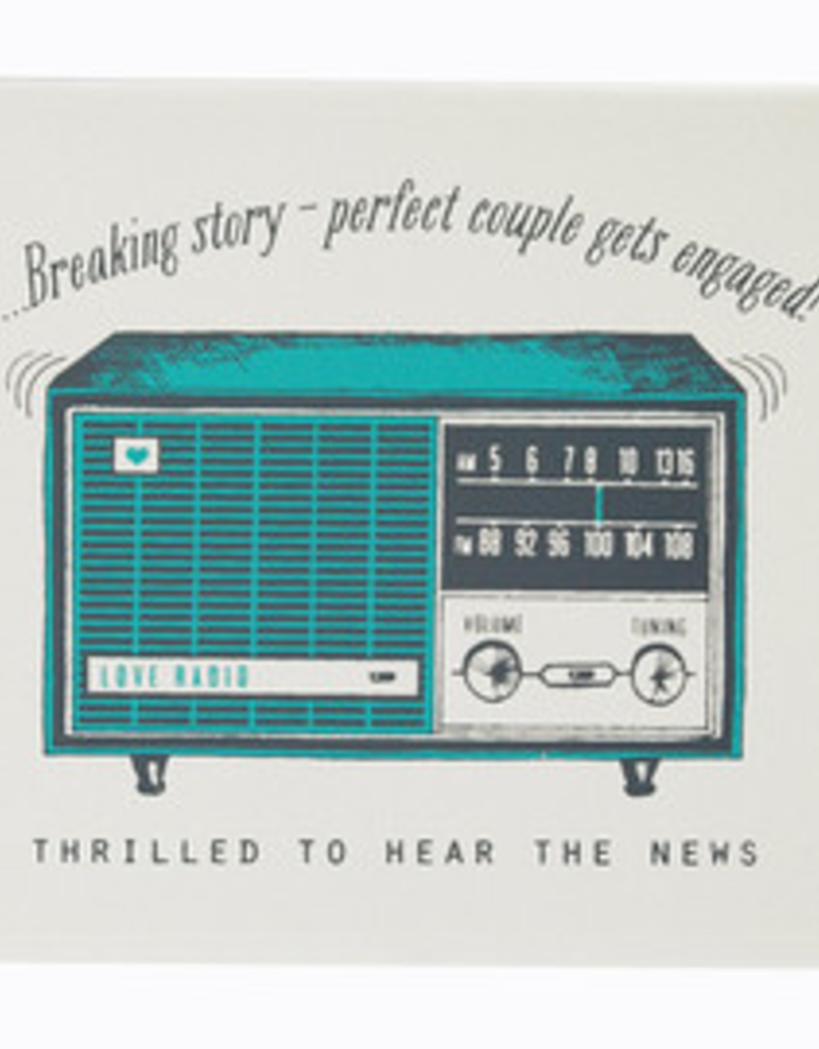 The Good Days Print Co The Good Days Print Co Radio Engagement Card