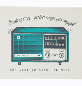 The Good Days Print Co Radio Engagement Card