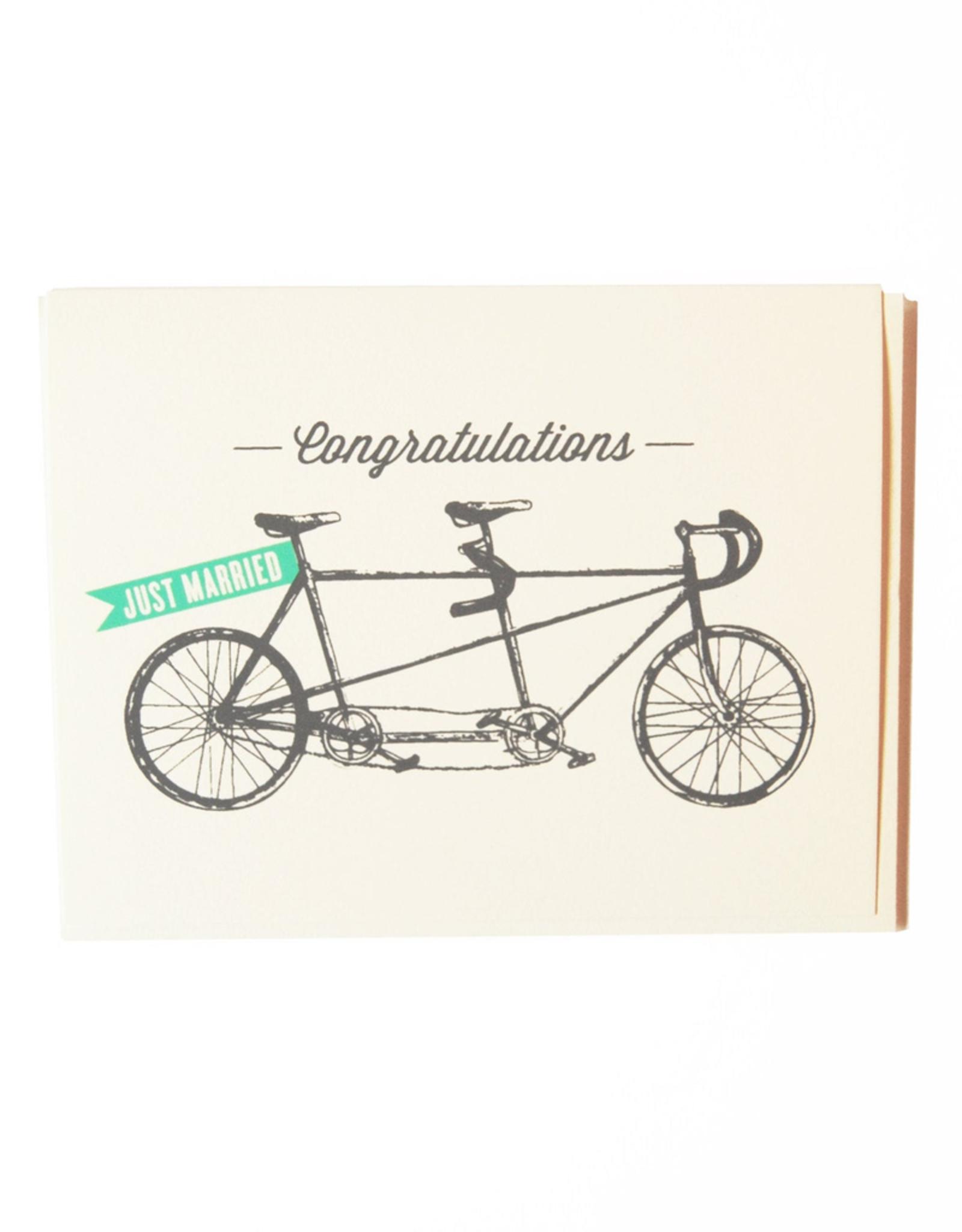 The Good Days Print Co The Good Days Print Co Tandem Bike Card