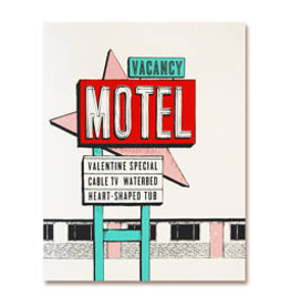 The Good Days Print Co Valentine Motel Card