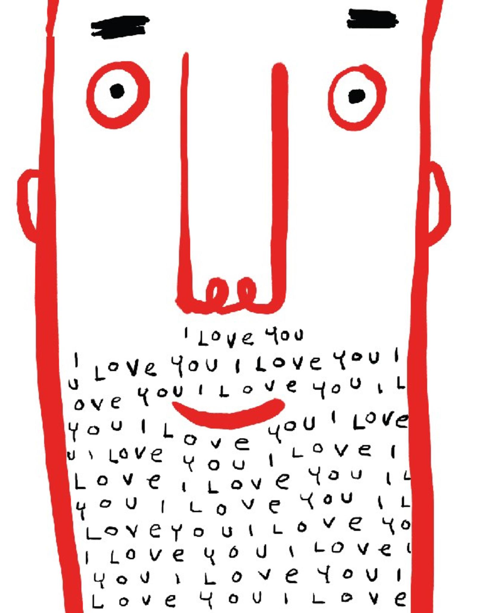 Paper E Clips Paper E Clips I Love You Face Card-2051