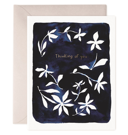 Paper E Clips Indigo Flowers Card