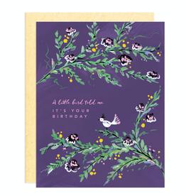 Paper E Clips Little Birdy Birthday Card-GC004
