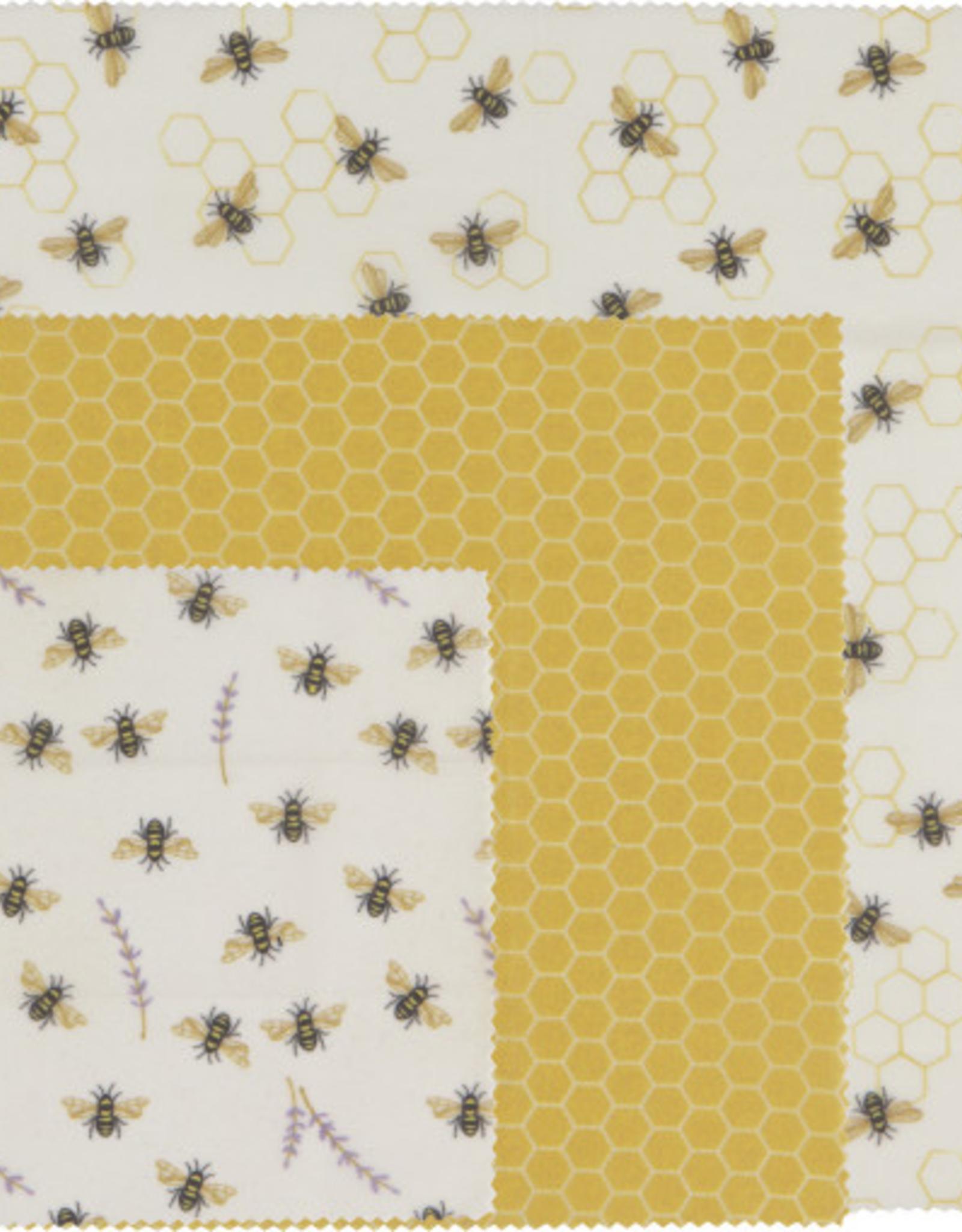 Danica Danica Beeswax Wrap-Bees Set 3
