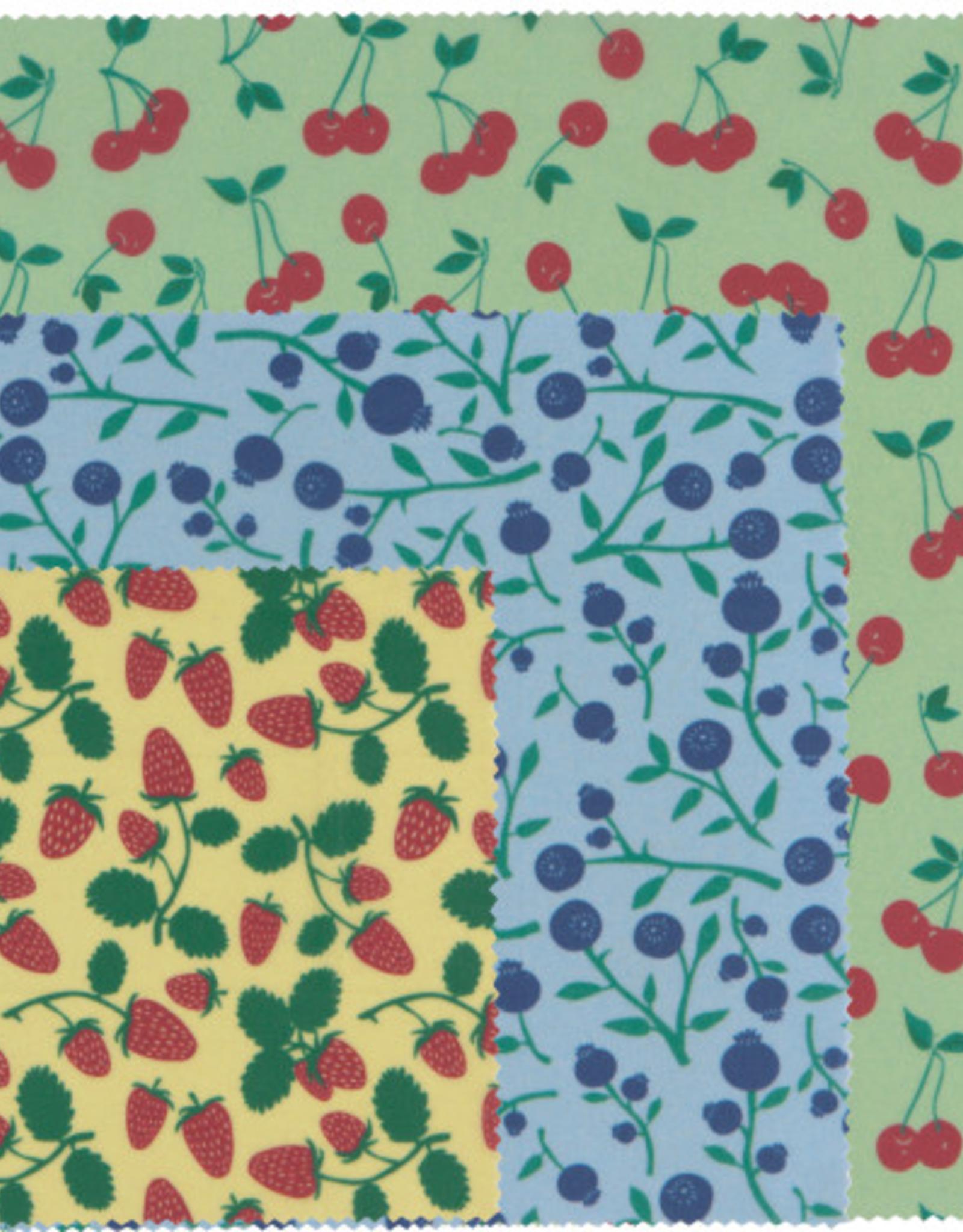 Danica Danica Beeswax Wrap-Berries And Fruit Set 3