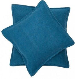 DFT Flannel Cushion-Blanket Stitch-Atlantic