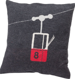 DFT Flannel Cushion-Cable Car-Charcoal