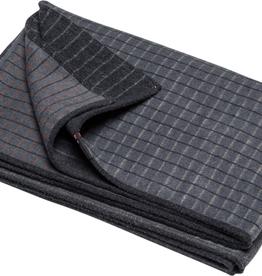 DFT Flannel Throw-Checks-Grey