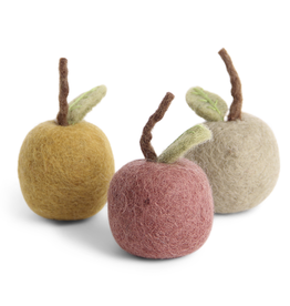 EGS Felted Apple Ornament -Set 3