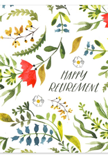 Paper E Clips Paper E Clips Retirement Floral Card-WW46