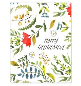Paper E Clips Retirement Floral Card