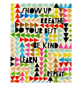 Paper E Clips Show Up Breathe Card