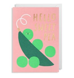 Paper E Clips Sweet Pea Card