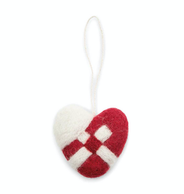 EGS Felted Braided Heart Ornament