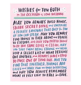Paper E Clips Wishes For You Both Card-GC384