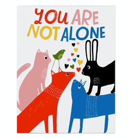 Paper E Clips You Are Not Alone Card
