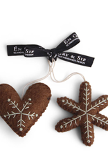 EGS EGS Gingerbread Heart And Star Ornaments