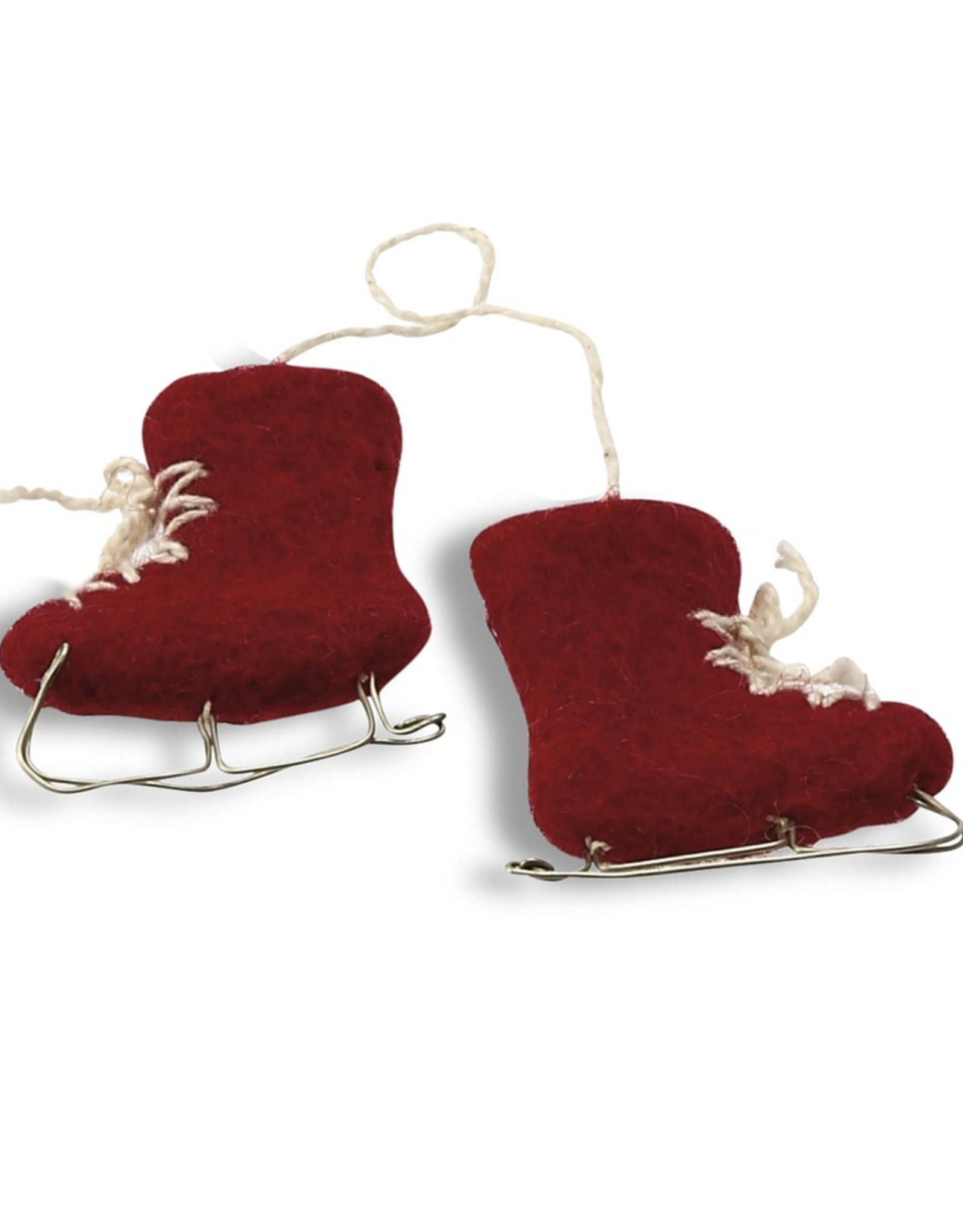EGS EGS Ice Skates Ornament-Red