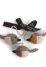 EGS EGS Mini Round Colourful Bird Ornaments-Set 3