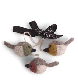 EGS Felted Colourful Bird Ornaments-Set 3