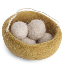 EGS Felted Nest Ornament - Ochre