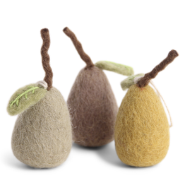 EGS Felted Pear Ornaments-Set 3