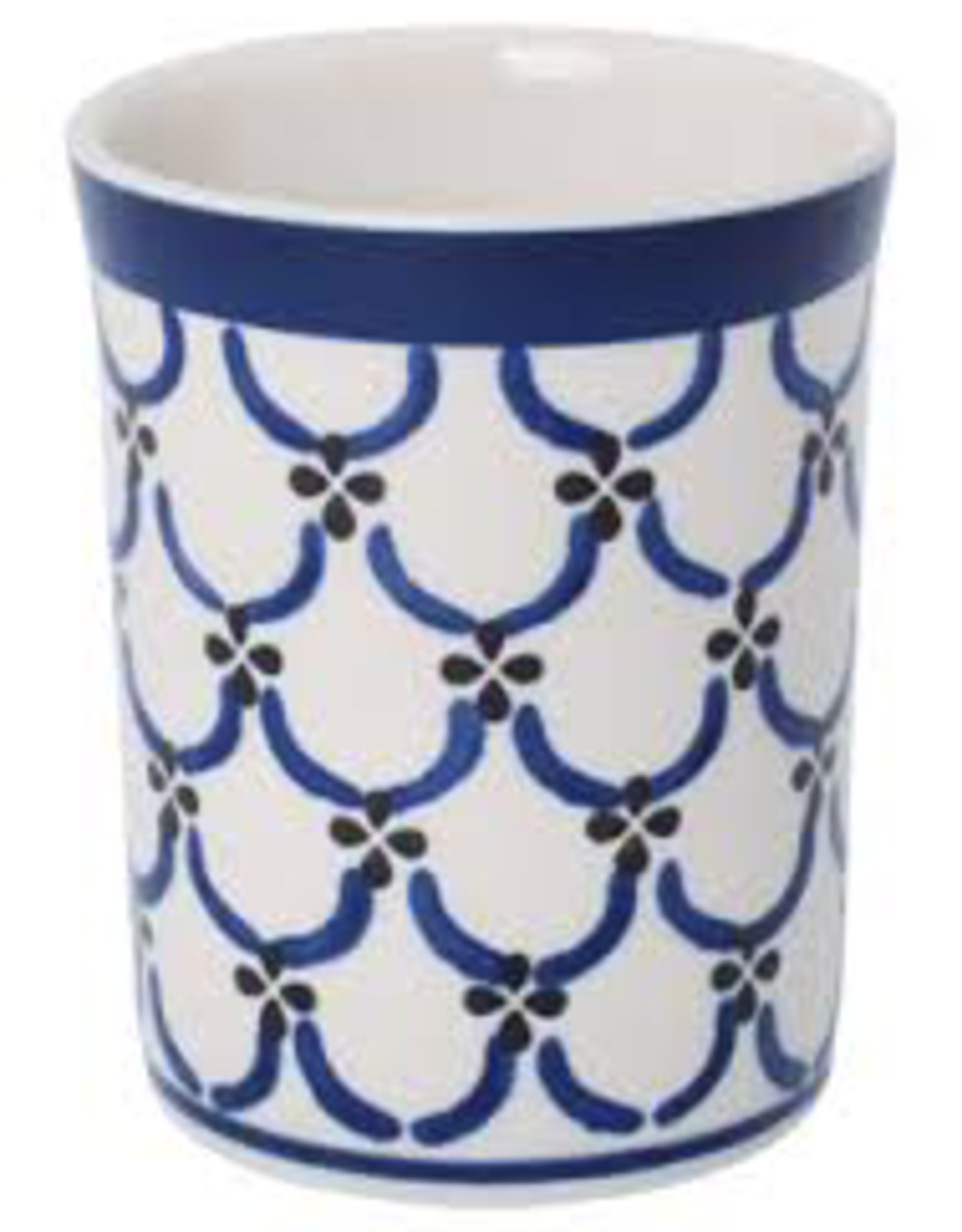 Redecker Redecker Ceramic Beaker-Light Pattern
