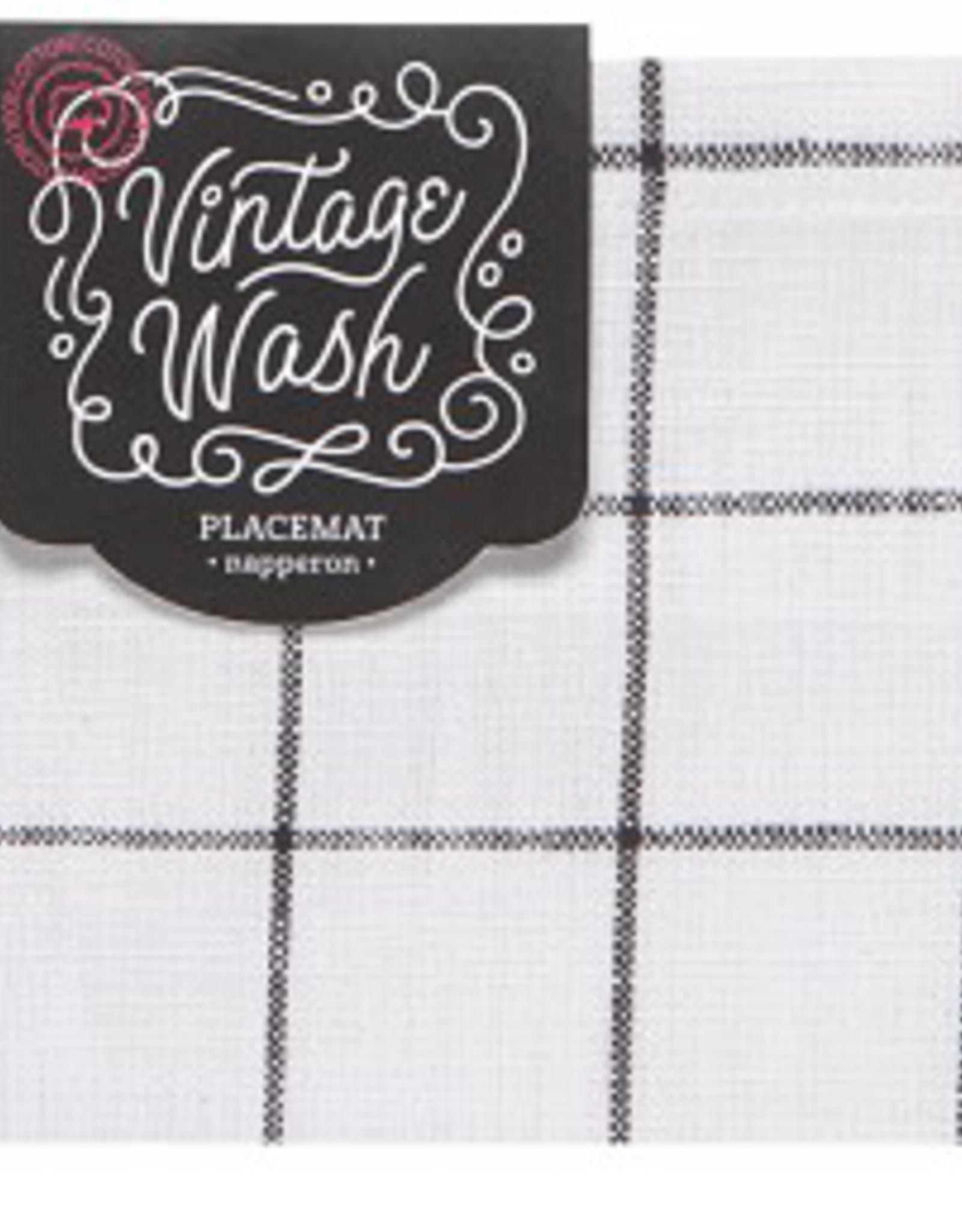 Danica Danica Vintage Wash Placemat-Black