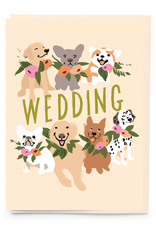 Paper E Clips Paper E Clips Dogs And Wedding Flowers Card-BW017