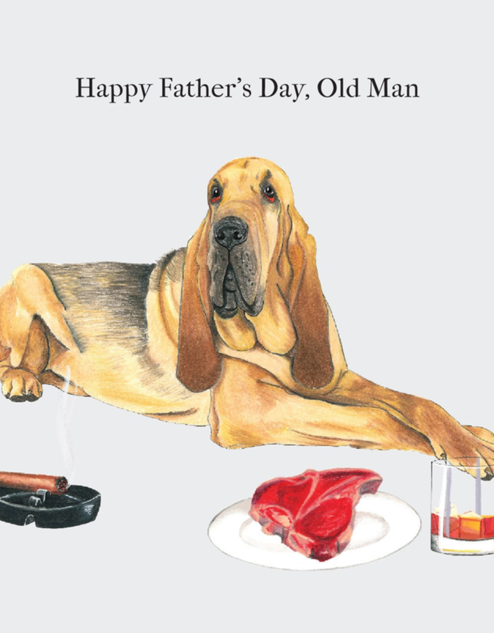 Paper E Clips Paper E Clips Dog Steak Whiskey Card-2090
