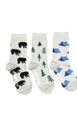 Friday Sock Co Friday Sock Co Bear And Tree Kids Socks-Age 5-7