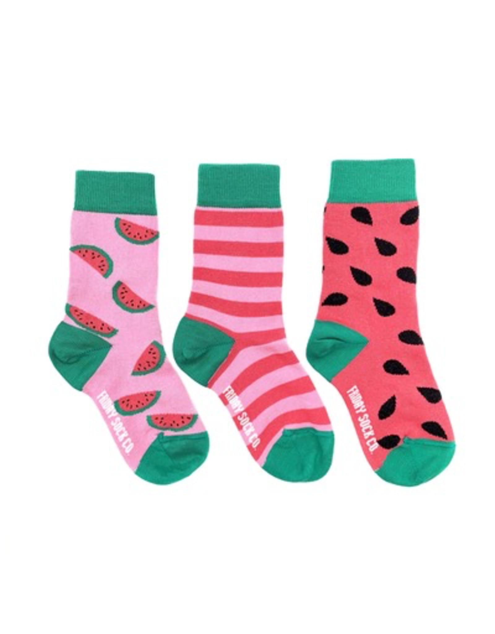 Friday Sock Co Friday Sock Co Watermelon Kids Socks-Age 5-7