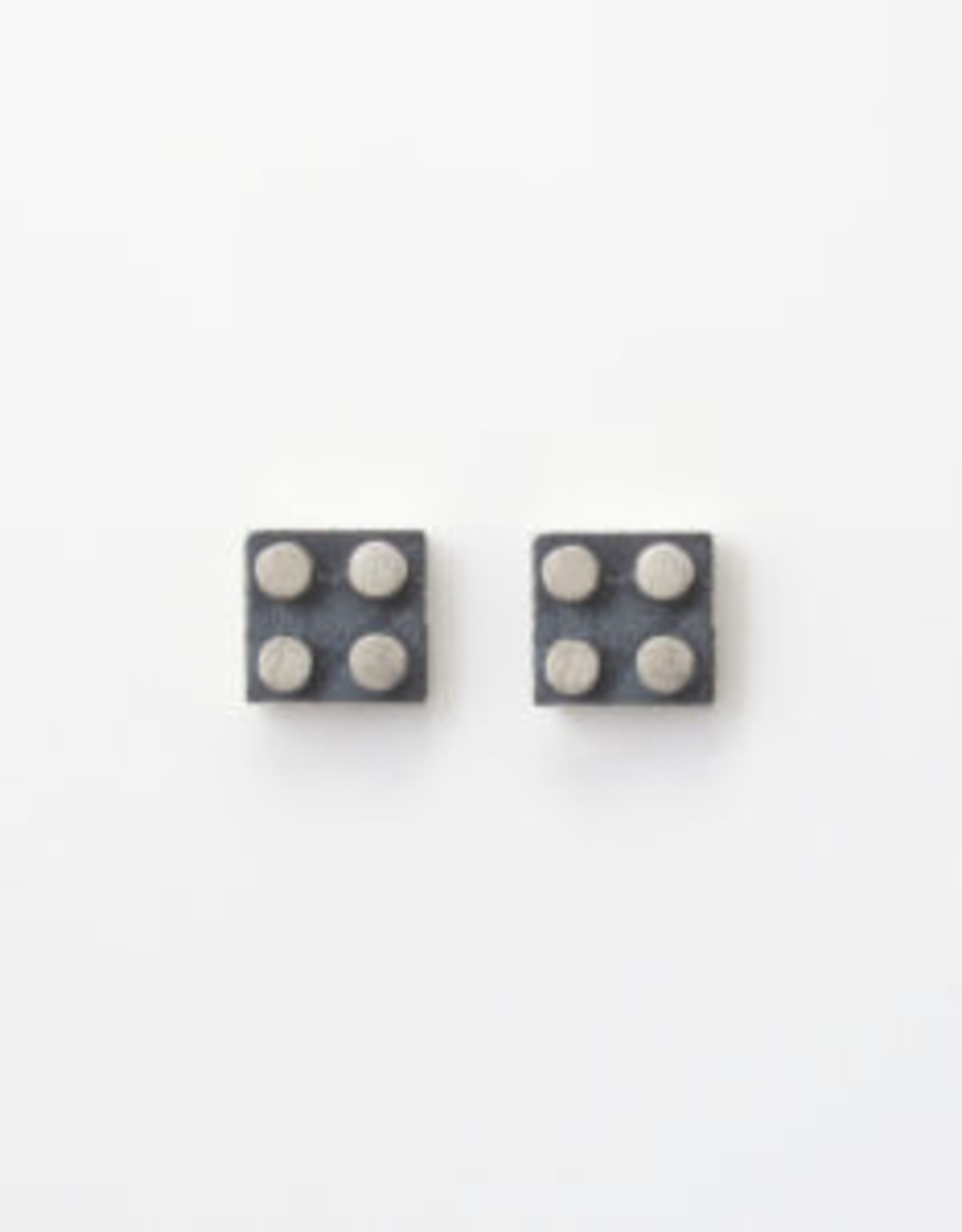 Flesch Flesch Nano Block Stud Earrings-Medium Square