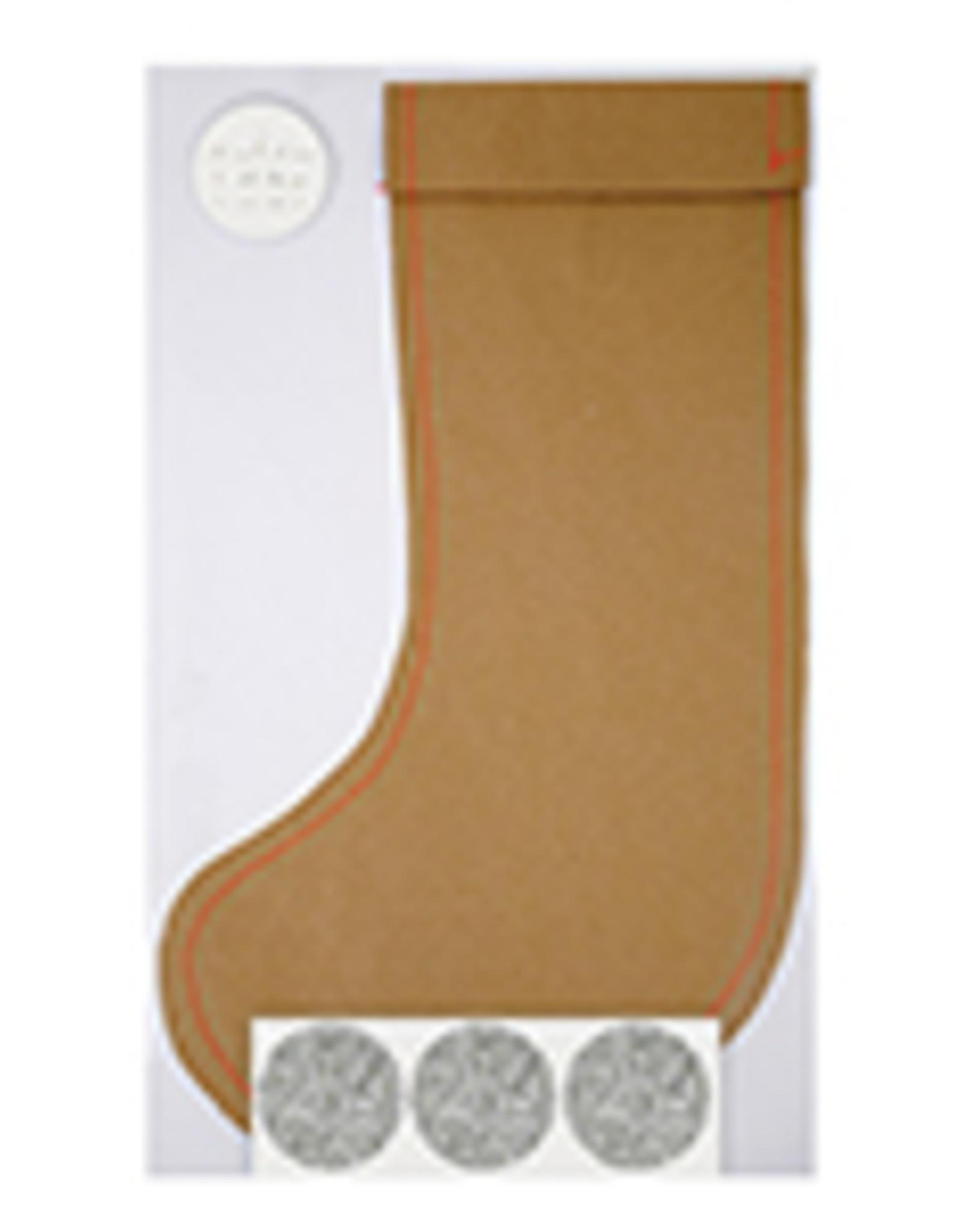 Meri Meri Meri Meri Kraft Stocking Gift Bag-Large