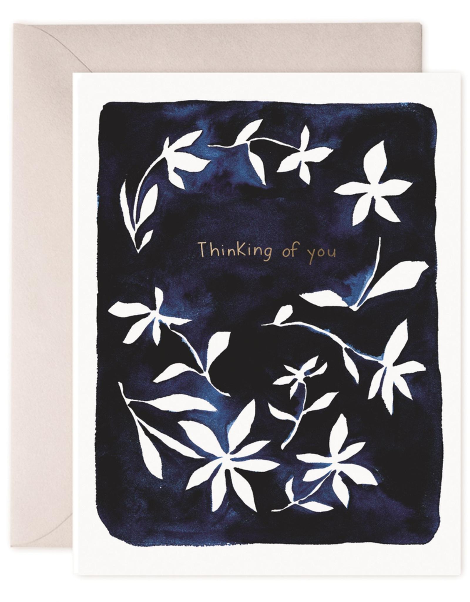 Paper E Clips Paper E Clips Indigo Flowers Card-CO156