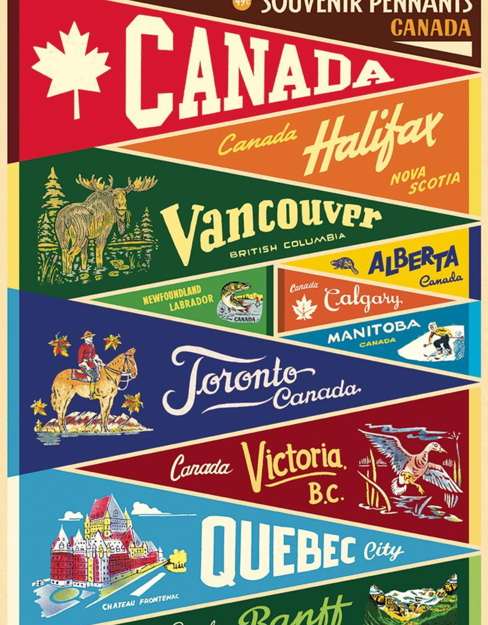 Cavallini Papers Cavallini Papers Canada Pennants Wrap