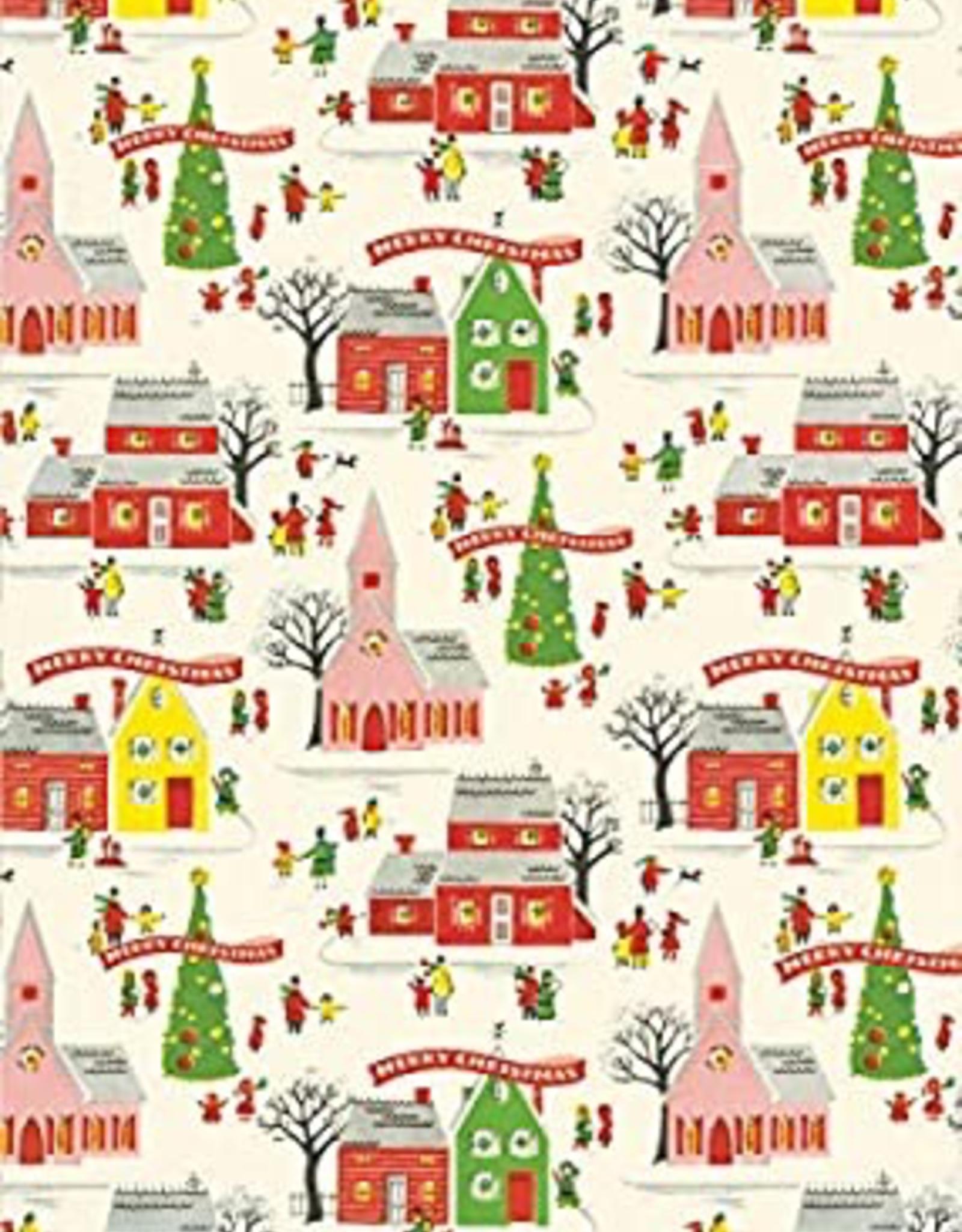 Cavallini Papers Cavallini Papers Christmas Village Wrap