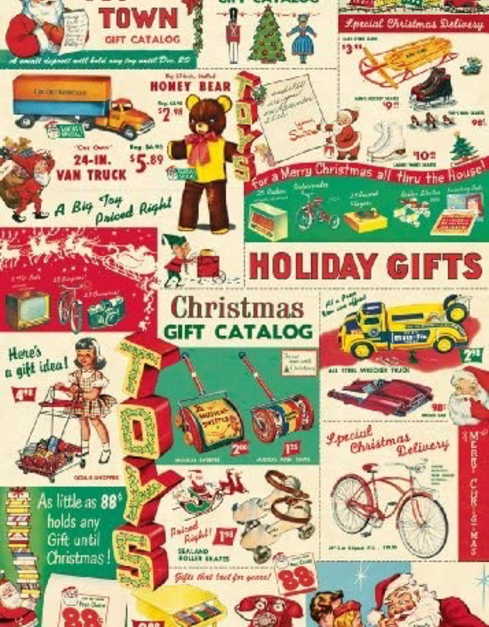 Cavallini Papers Cavallini Papers Vintage Toy Catalog Wrap