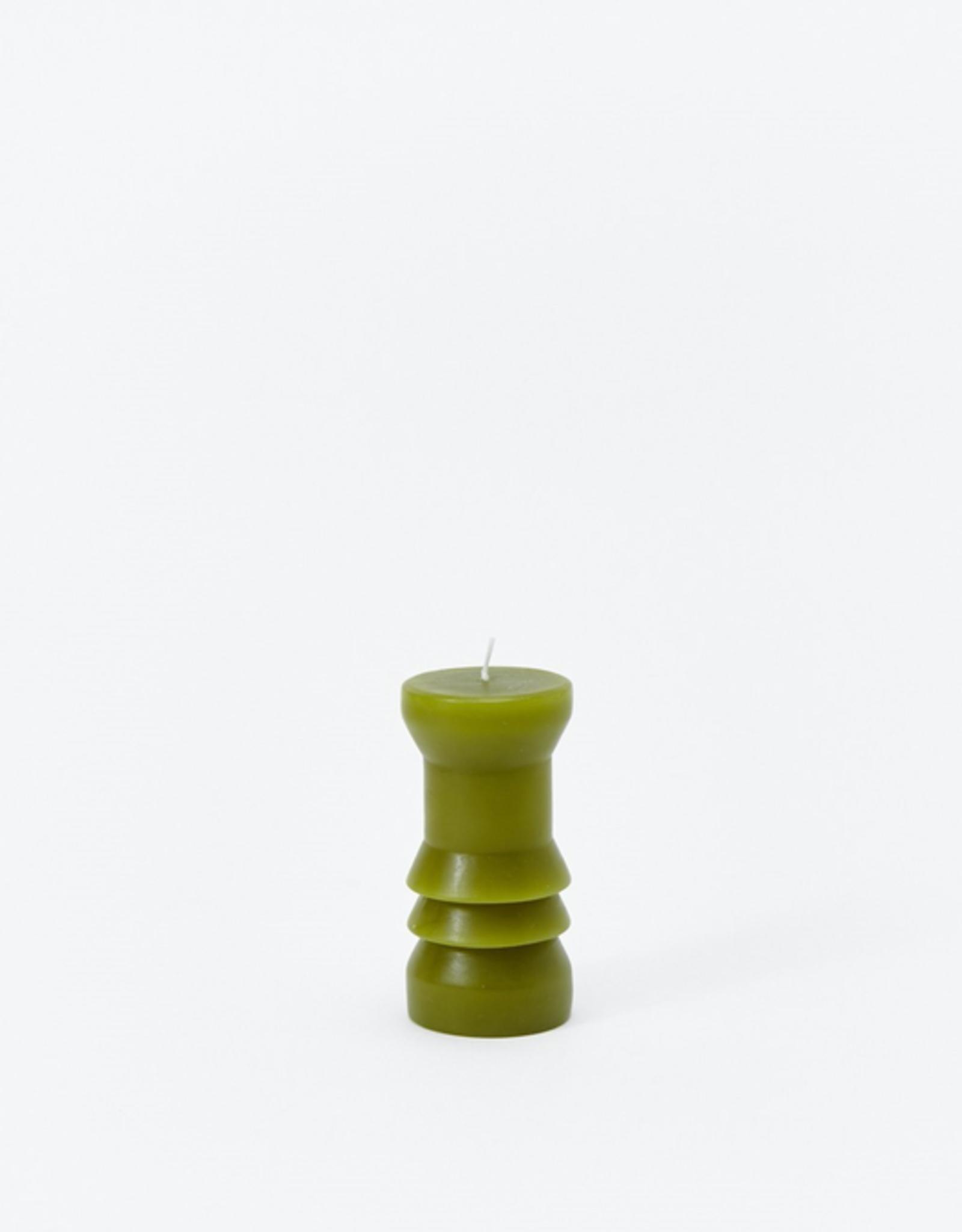 TTG TTG Sculpted Candle-Moss-Small