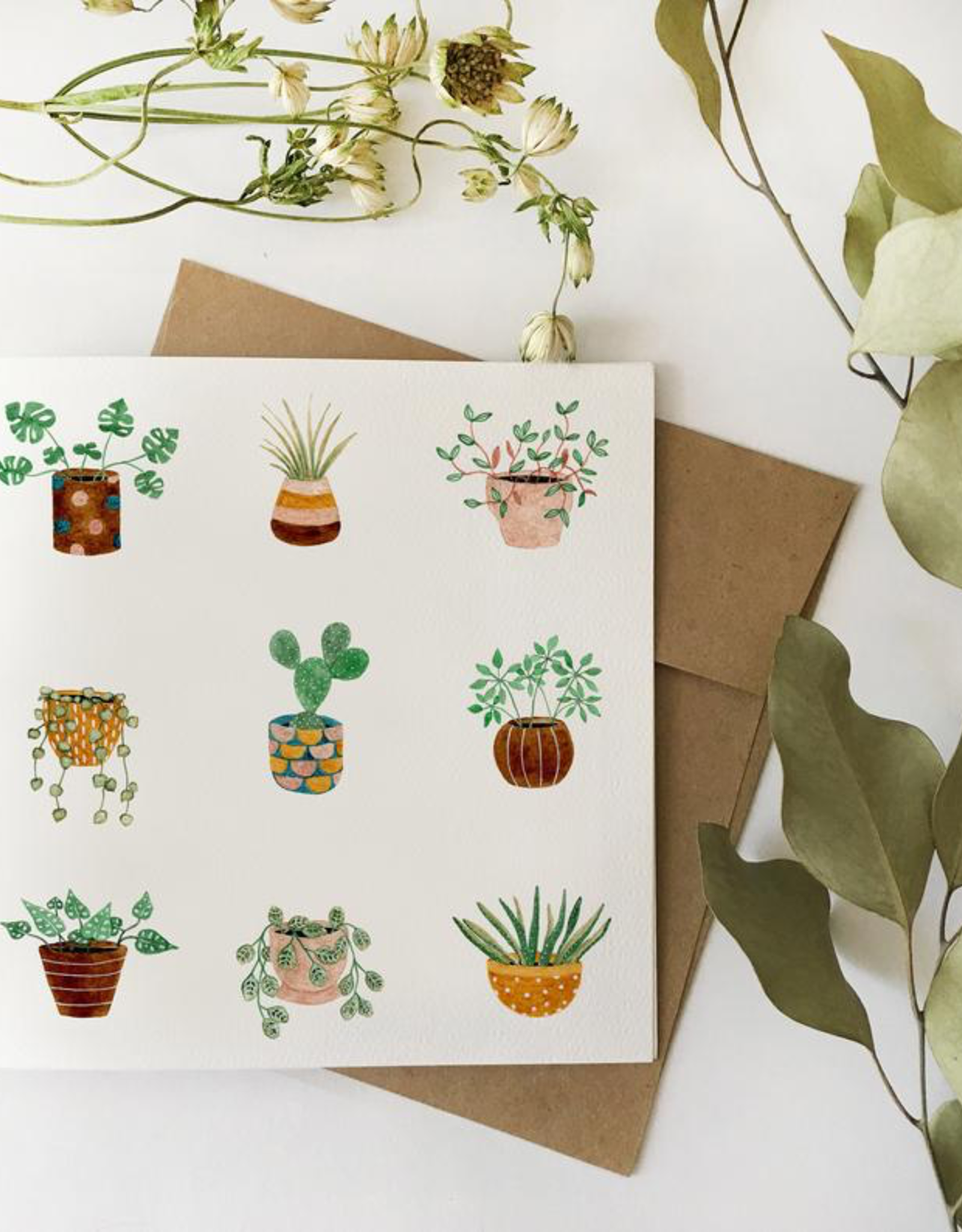 Fla Fla Fla Fla Potted Plants Card