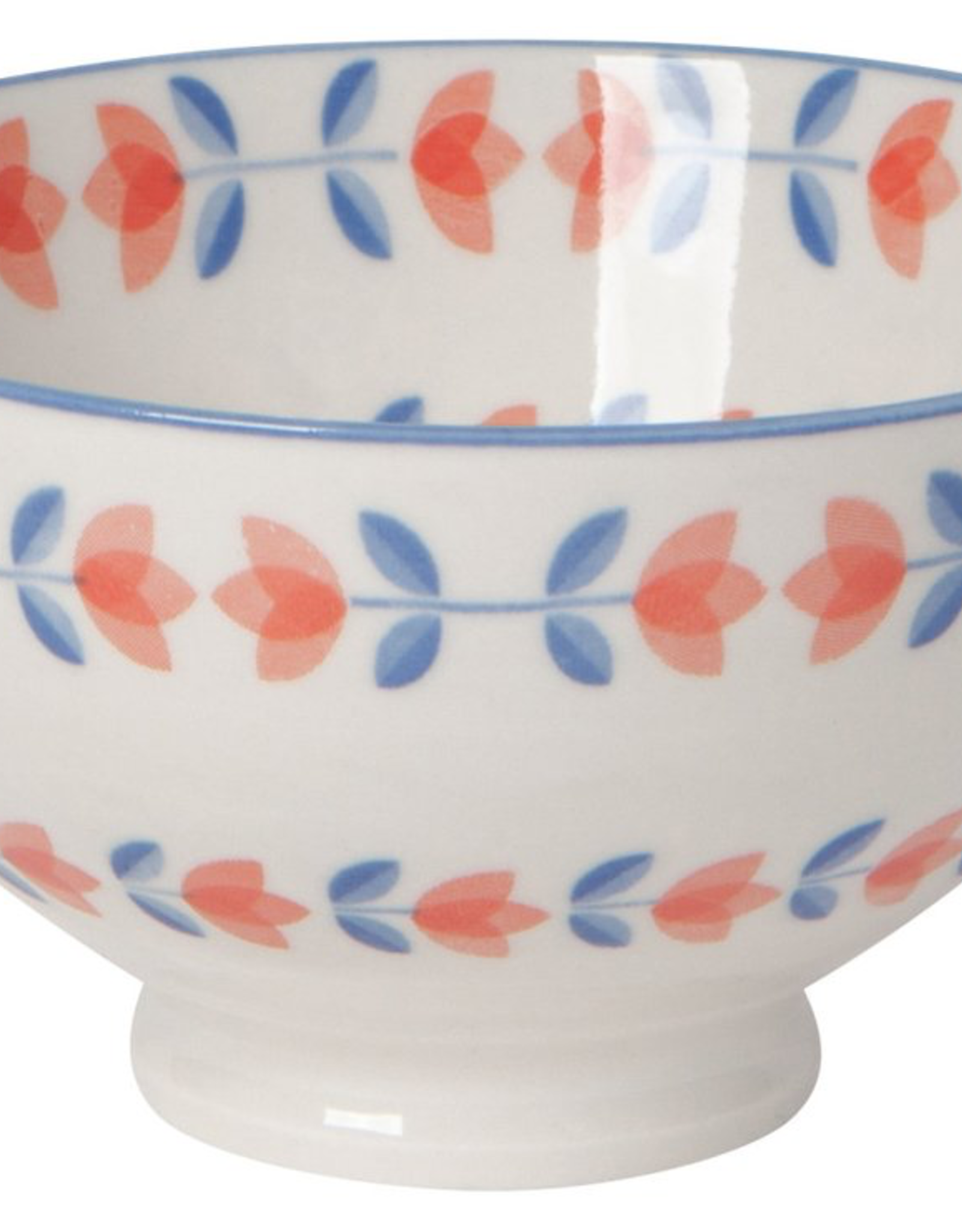 Danica Danica Blue Orange Tulip Bowl-4 Inch