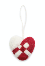 EGS EGS Braided Heart Ornament