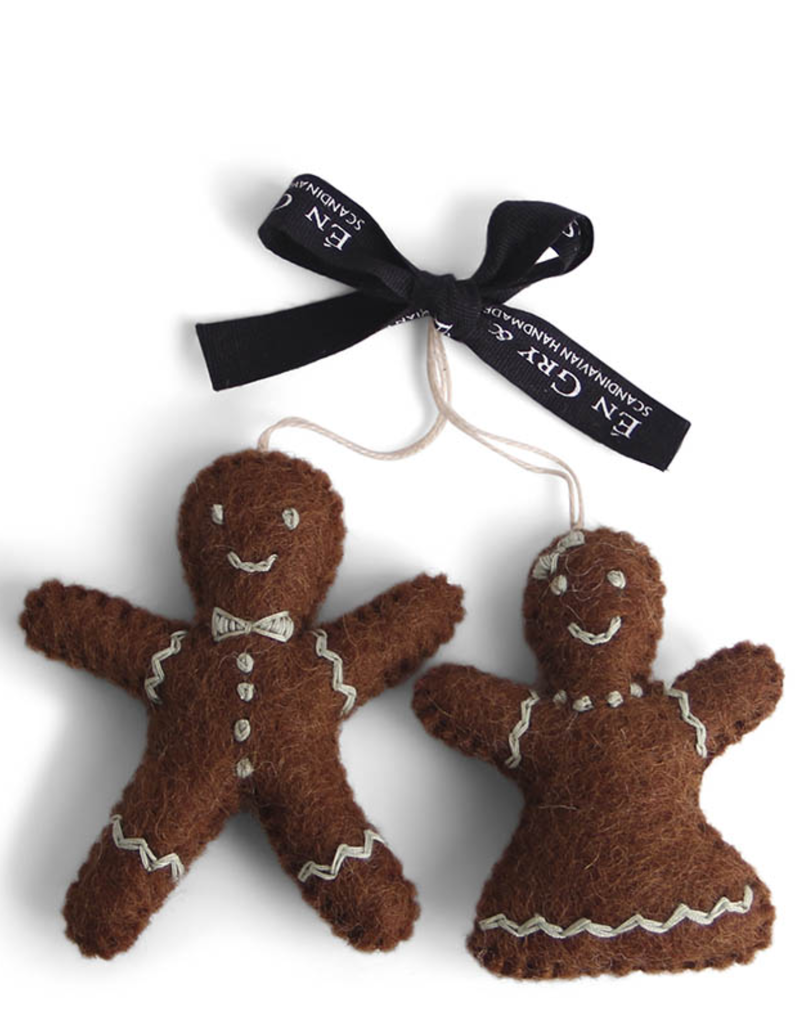 EGS EGS Gingerbread Man And Woman Ornaments