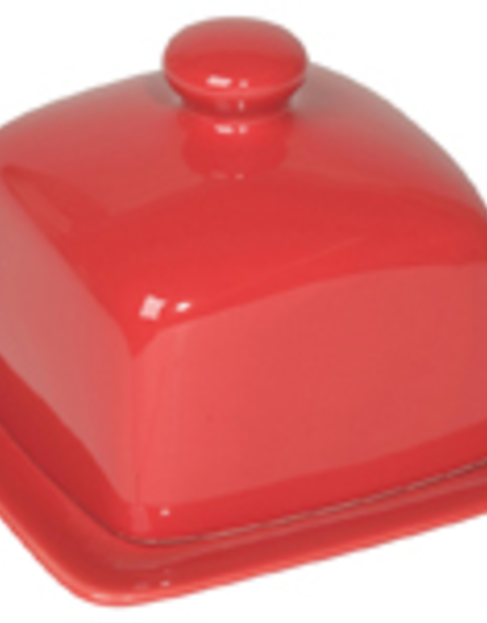 Danica Danica Square Butter Dish-Red