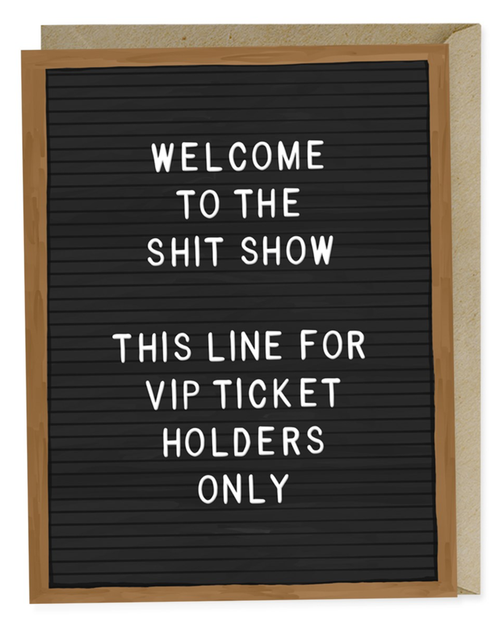 Paper E Clips Paper E Clips Shit Show VIP Card