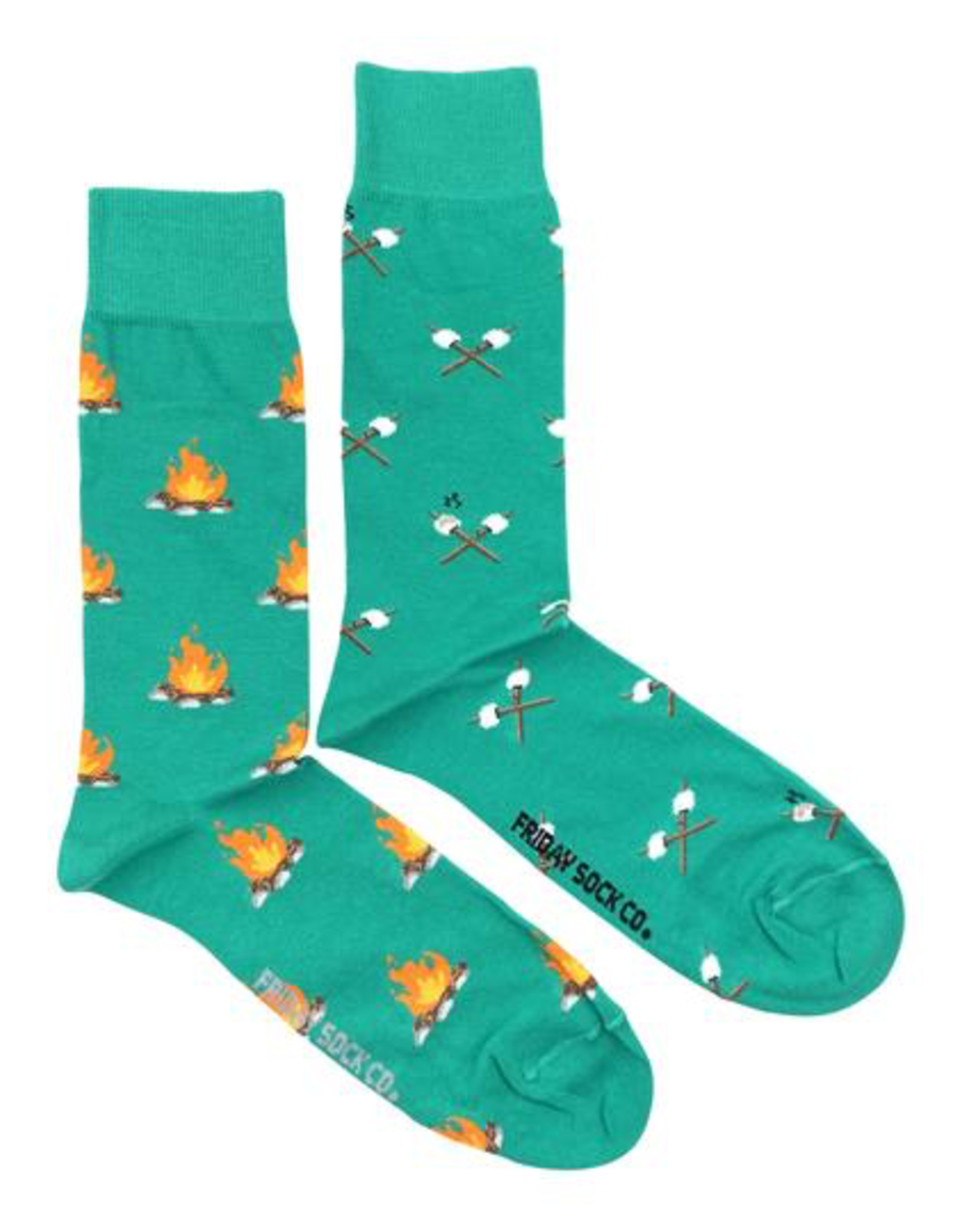 Friday Sock Co Friday Sock Co Campfire And Marshmallow Socks