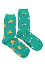 Friday Sock Co Campfire And Marshmallow Crew Socks